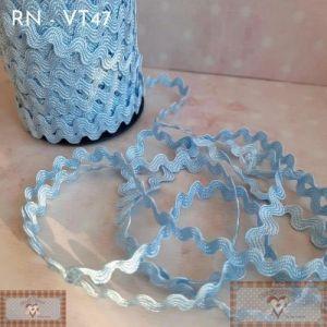 RN - VT47 - SIANINHA CLÁSSICA AZUL CLARO  (L:1CM) - 1MT