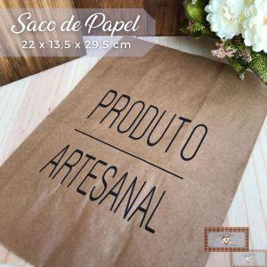 SACO DE PAPEL - PRODUTO ARTESANAL (1UN) - 22X13,5X29,5