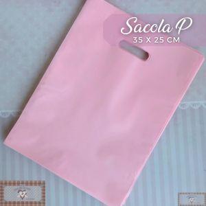 SACOLA PLÁSTICA P - ROSA (35 X 25 CM) - 1UN