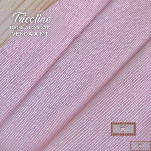 TECIDO TRICOLINE 0,50 MT - LISTRAS RISCADO SALMÃO