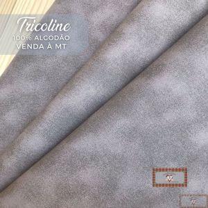 TECIDO TRICOLINE 0,50 MT - POEIRINHA CINZA