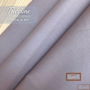 TECIDO TRICOLINE 0,50 MT - LISO CINZA