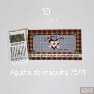 AGULHA PARA MÁQUINA DE COSTURA 10UN - 75/11