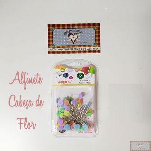 ALFINETE CABEÇA FLOR - 50UN