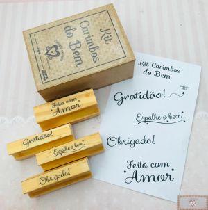 KIT DE CARIMBOS DO BEM - 4 LINDOS CARIMBOS!