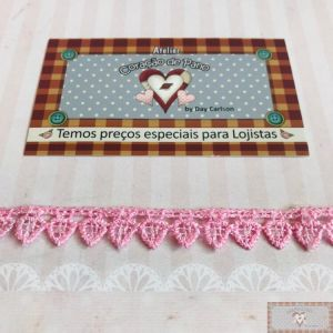 RN98 - Renda Mini Coração ROSA L:1cm
