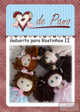 GABARITO PARA ROSTINHO II - PINTANDO COM LÁPIS