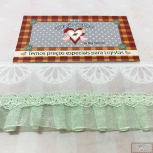 RN127 - RENDA FRUFRU CANDY COLORS VERDE (LARGURA - 2,5cm)
