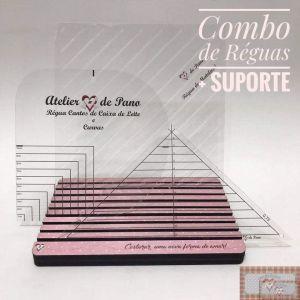 COMBO RÉGUAS DE ACRÍLICO + SUPORTE (4 ITENS)