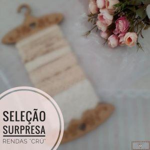 SELEÇÃO ESPECIAL RENDAS DE ALGODÃO CRU - SURPRESA!!